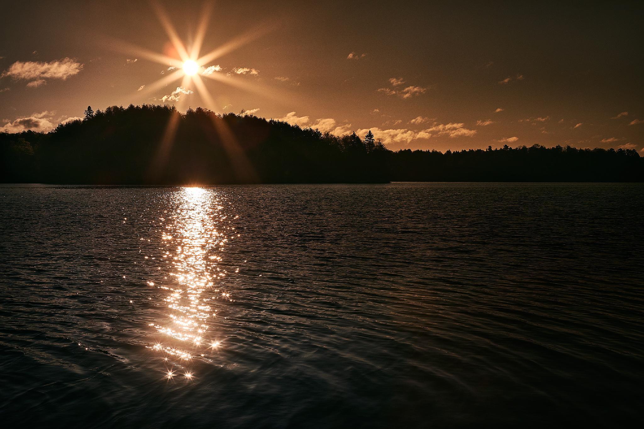 Lever de soleil sur le lac McGregor