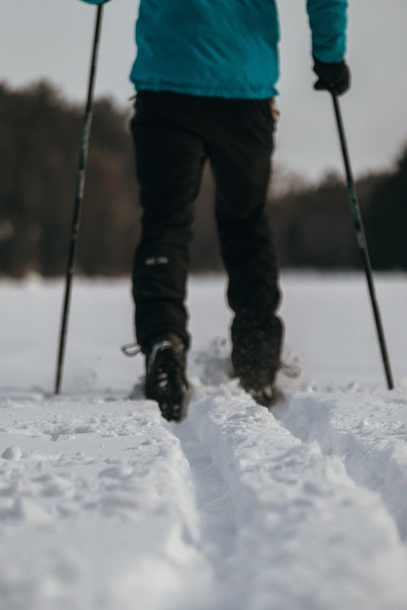 Ski de fon sur le lac McGregor (sentiers non balisés)