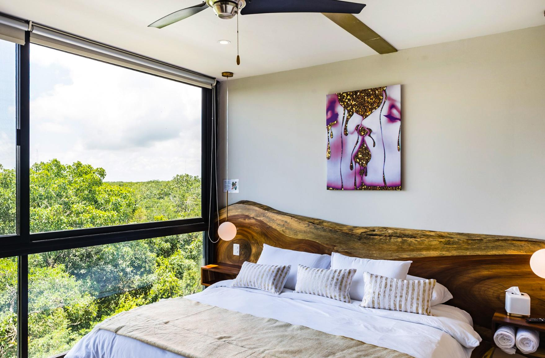 Designer Penthouse with Private Pool and View of Mayan Ruins