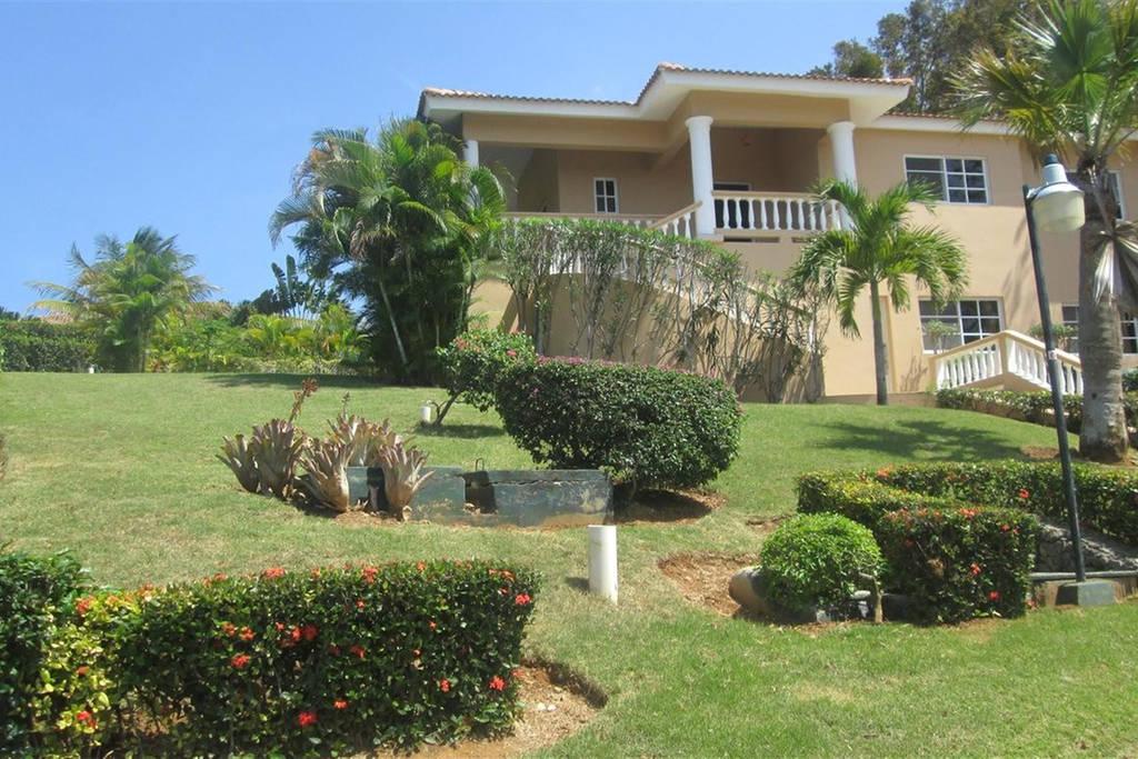 Hilltop Ocean View Villa w/ Large Pool Walking to Strip and Sosua Beach